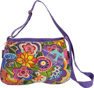Laurel Burch Carlotta's Garden Medium Crossbody Multi - Laurel Burch Fabric Handbags