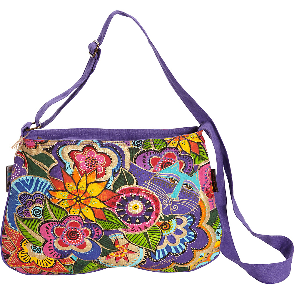 Laurel Burch Carlotta s Garden Medium Crossbody Multi Laurel Burch Fabric Handbags