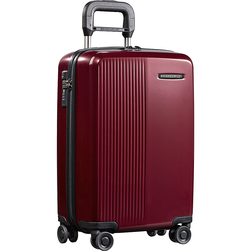 Briggs Riley Sympatico 21 International Carry On Spinner Burgundy Briggs Riley Hardside Carry On