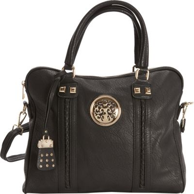 SW Global Oliva Satchel Bag Black - SW Global Manmade Handbags