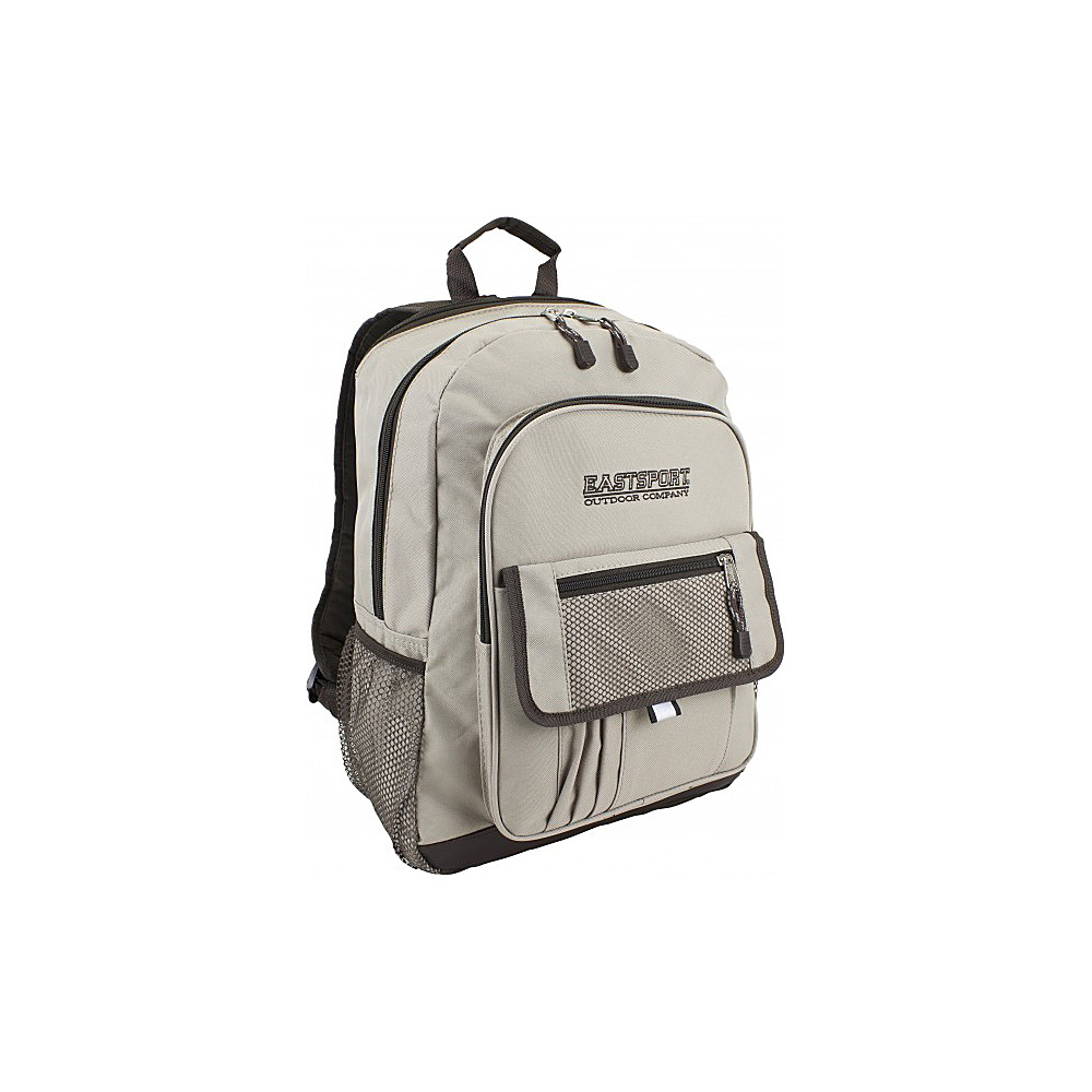 Eastsport Basic Tech Backpack Beige Eastsport Business Laptop Backpacks