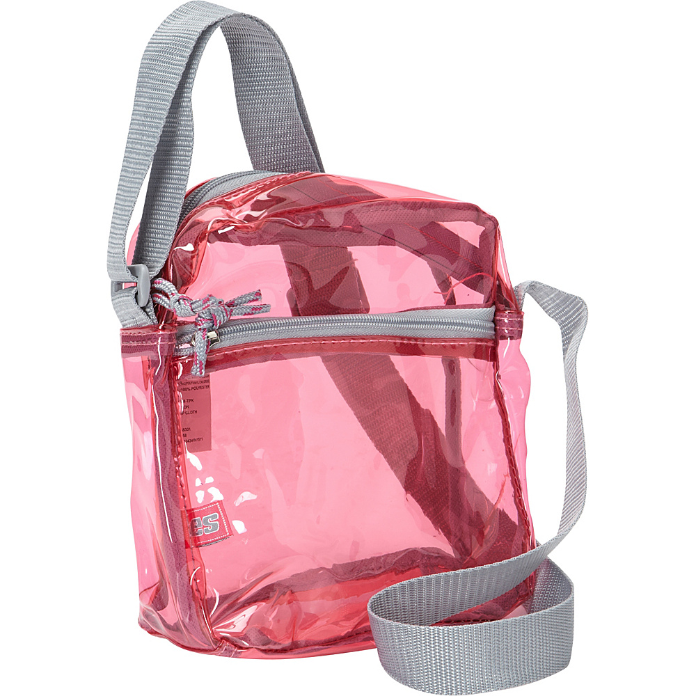 Eastsport Clear Mini Messenger Bag Clear Pink Eastsport Messenger Bags