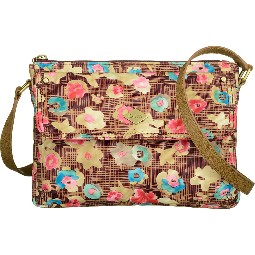 Oilily Extra Small Flat Shoulder Bag Brownie Oilily Fabric Handbags