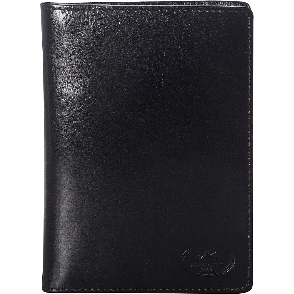 Mancini Leather Goods RFID Secure Deluxe Equestrian Passport Wallet Black - Mancini Leather Goods Travel Wallets
