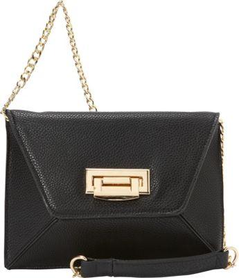 Sondra Roberts Geometric Clutch Black - Sondra Roberts Manmade Handbags