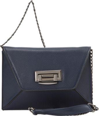 Sondra Roberts Geometric Clutch Navy - Sondra Roberts Manmade Handbags