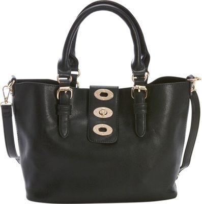 Diophy Adjustable Bag-in-Bag Tote Black - Diophy Manmade Handbags