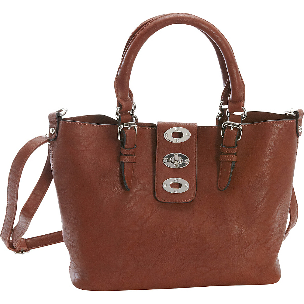 Diophy Adjustable Bag in Bag Tote Brown Diophy Manmade Handbags