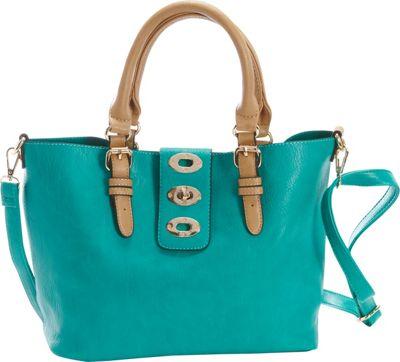 Diophy Adjustable Bag-in-Bag Tote Seafoam - Diophy Manmade Handbags