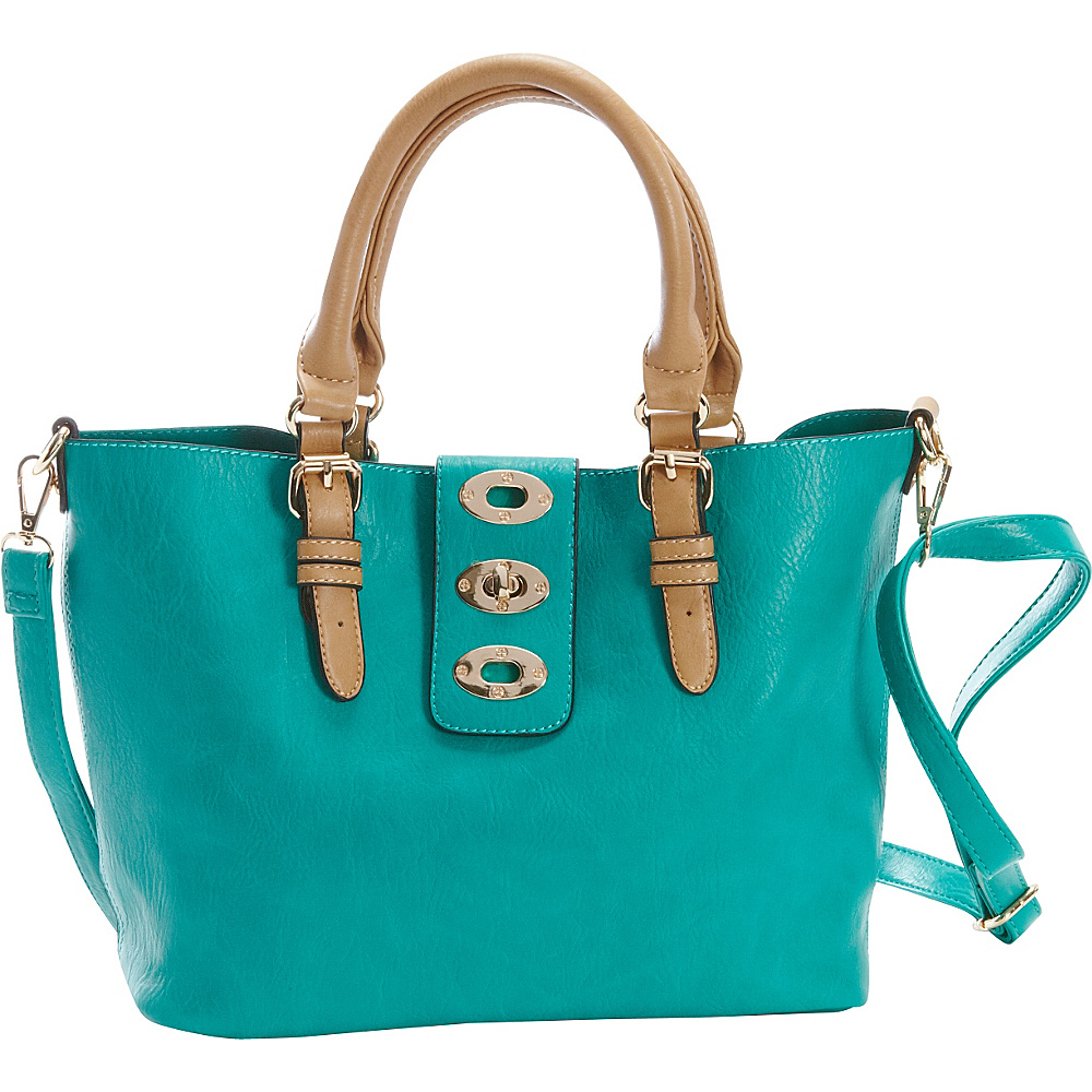 Diophy Adjustable Bag in Bag Tote Seafoam Diophy Manmade Handbags