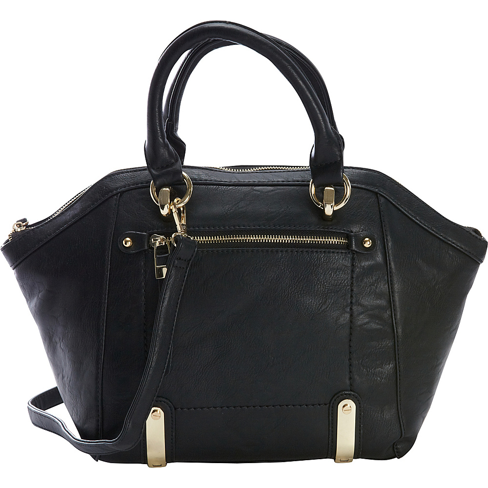 Diophy Multi-Compartment Satchel Black - Diophy Manmade Handbags