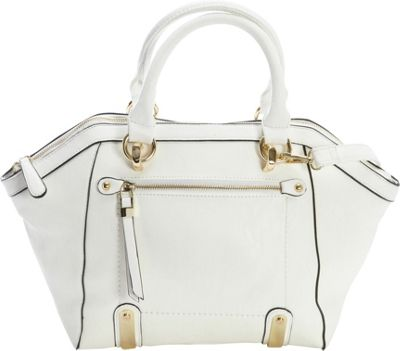 Diophy Multi-Compartment Satchel White - Diophy Manmade Handbags