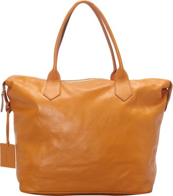 Donna Bella Designs Heron Leather Tote Yellow w/ Stripes - Donna Bella Designs Leather Handbags