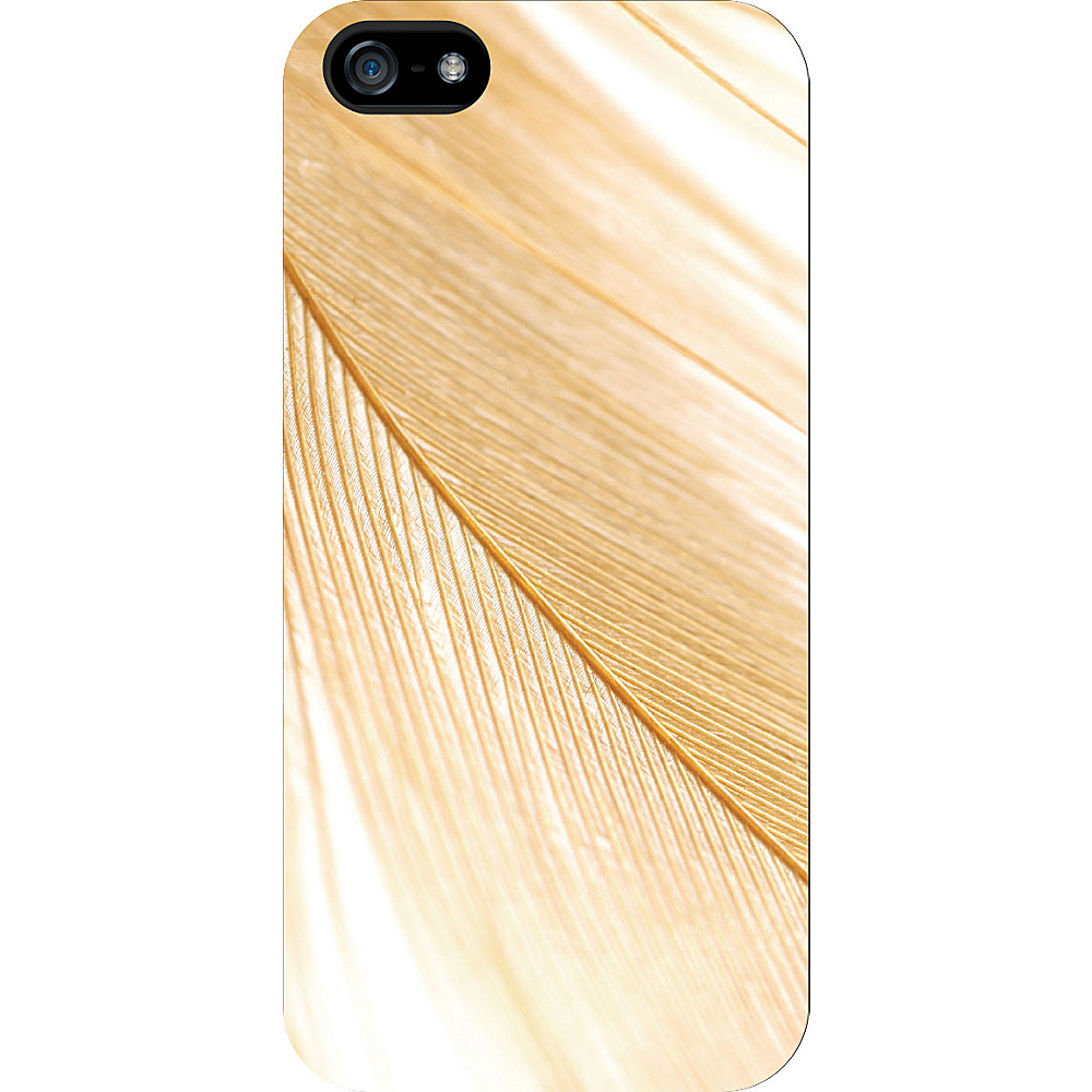 Centon Electronics OTM Glossy White iPhone SE 5 5S Case Feather Collection Gold Centon Electronics Electronic Cases