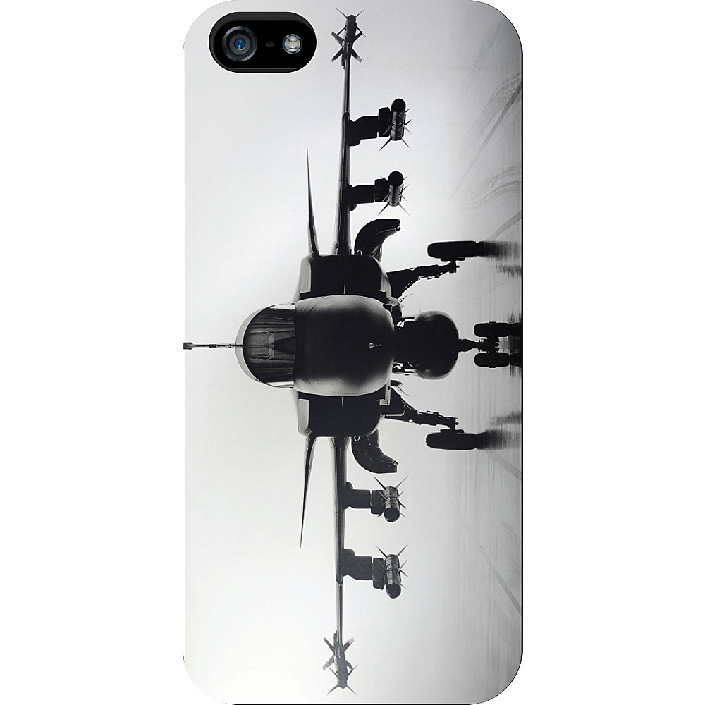 Centon Electronics OTM Glossy White iPhone SE 5 5S Case Rugged Collection Airplane Centon Electronics Electronic Cases