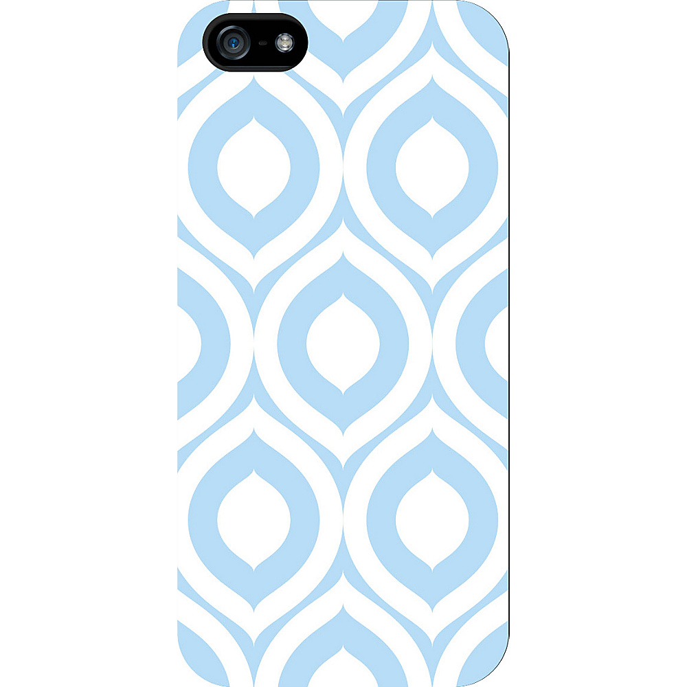 Centon Electronics OTM Glossy White iPhone SE 5 5S Case Elm Collection Sky Blue Centon Electronics Electronic Cases