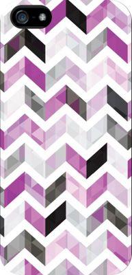 Centon Electronics OTM Glossy White iPhone SE/5/5S Case Ziggy Collection - Purple - Centon Electronics Electronic Cases