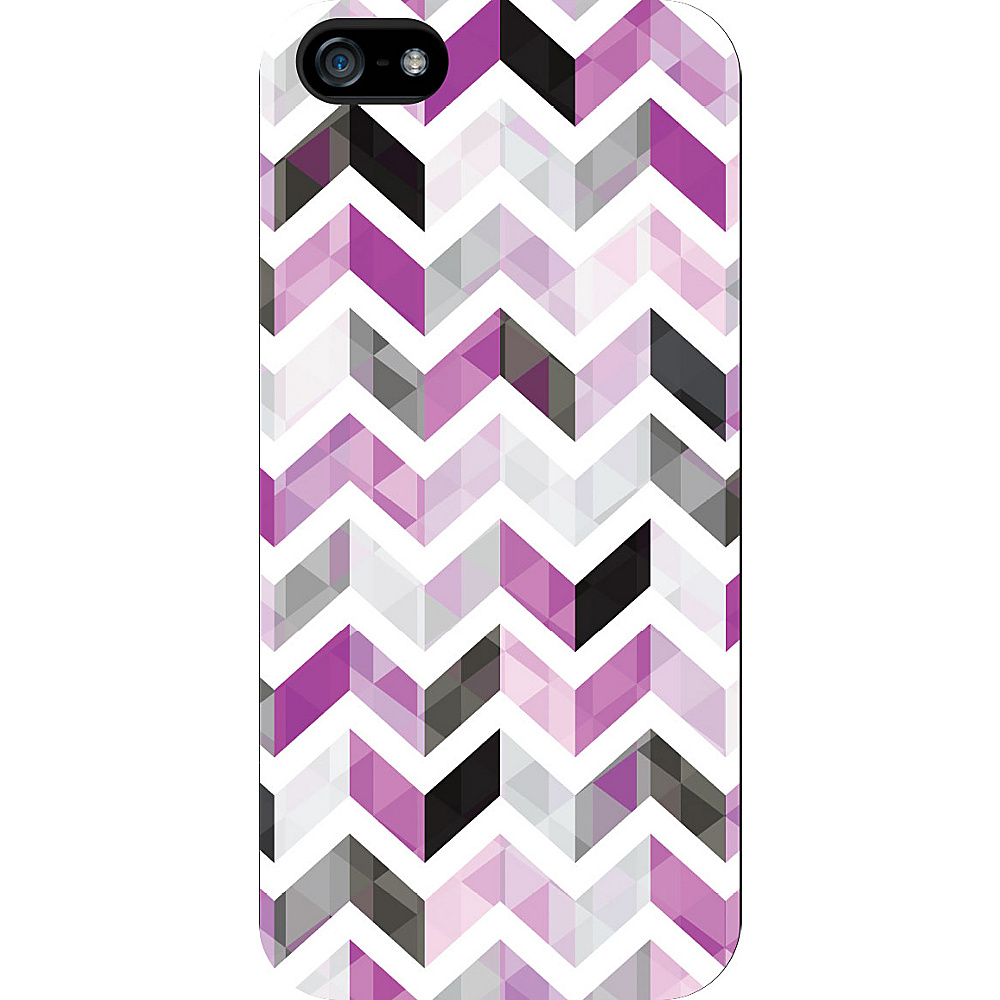 Centon Electronics OTM Glossy White iPhone SE 5 5S Case Ziggy Collection Purple Centon Electronics Electronic Cases