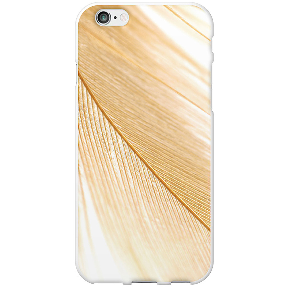 Centon Electronics OTM Glossy White iPhone 6 Case Feather Collection Gold Centon Electronics Electronic Cases
