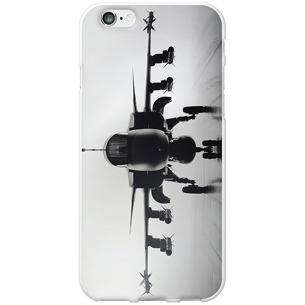 Centon Electronics OTM Glossy White iPhone 6 Case Rugged Collection Airplane Centon Electronics Electronic Cases