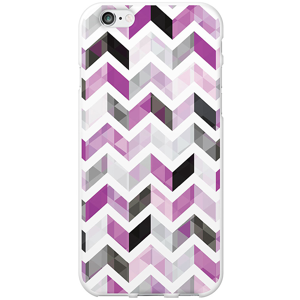 Centon Electronics OTM Glossy White iPhone 6 Case Ziggy Collection Purple Centon Electronics Electronic Cases