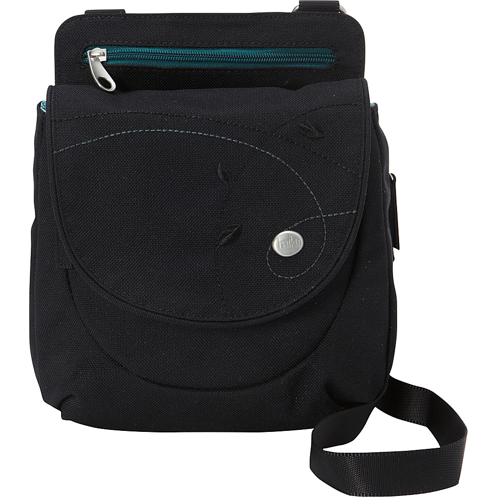 Haiku Swift Grab Bag Crossbody Black Juniper - Haiku Fabric Handbags