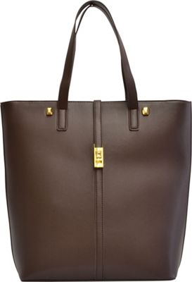 Adrienne Vittadini Modern Edge Shopper Tote Brown - Adrienne Vittadini Manmade Handbags