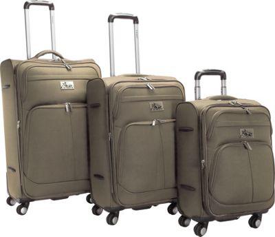 Chariot Taranto 3Pc Luggage Set Khaki - Chariot Luggage Sets