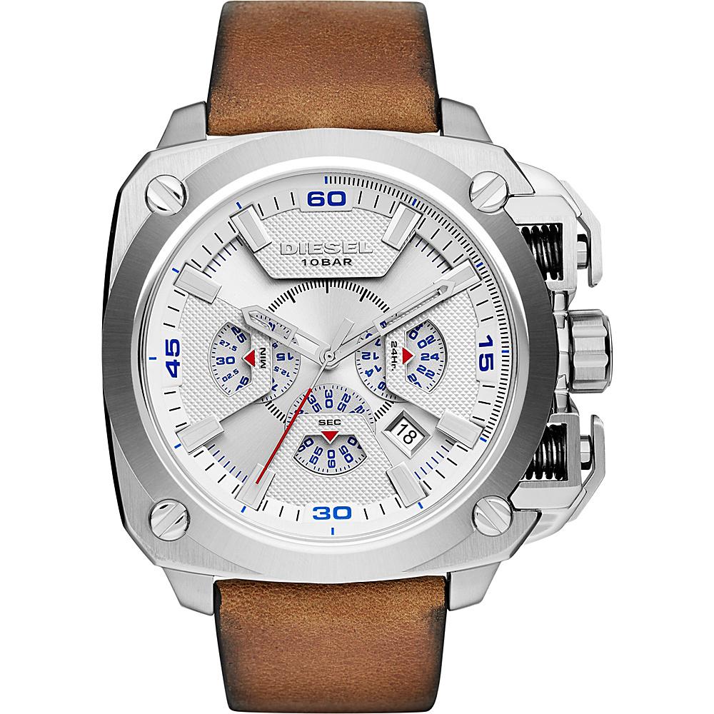 Diesel Watches BAMF Leather Watch Brown/Silver - Diesel Watches Watches