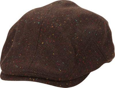 Ben Sherman Nep Tweed Driver Hat S/M - Coffee - Ben Sherman Hats/Gloves/Scarves