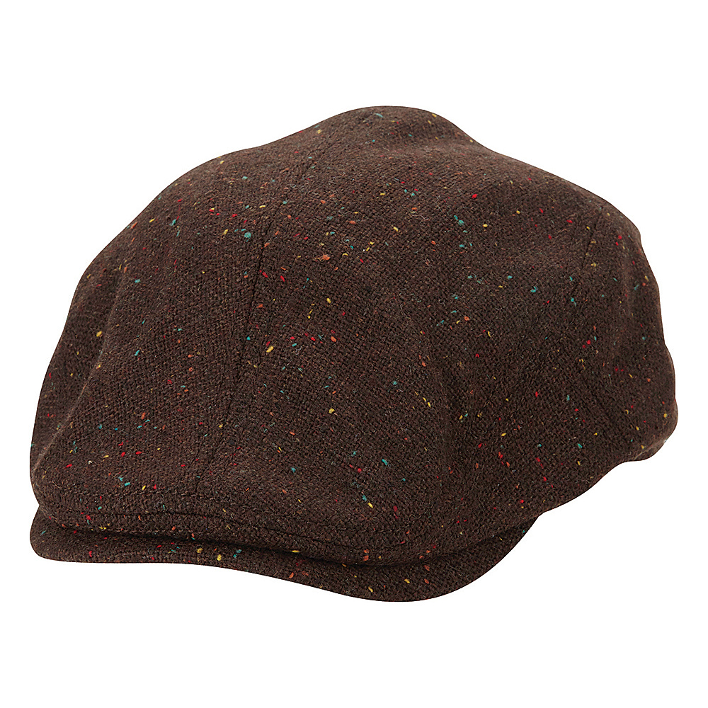 Ben Sherman Nep Tweed Driver Hat Coffee - Small/Medium - Ben Sherman Hats/Gloves/Scarves