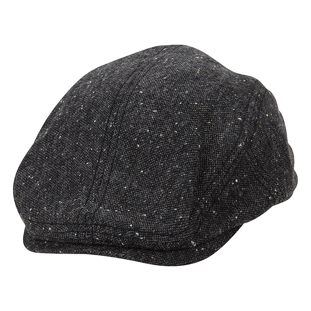 Ben Sherman Nep Tweed Driver Hat Jet Black - Small/Medium - Ben Sherman Hats/Gloves/Scarves