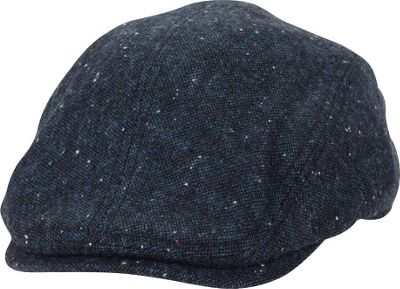 Ben Sherman Nep Tweed Driver Hat L/XL - Jet Black - Ben Sherman Hats/Gloves/Scarves
