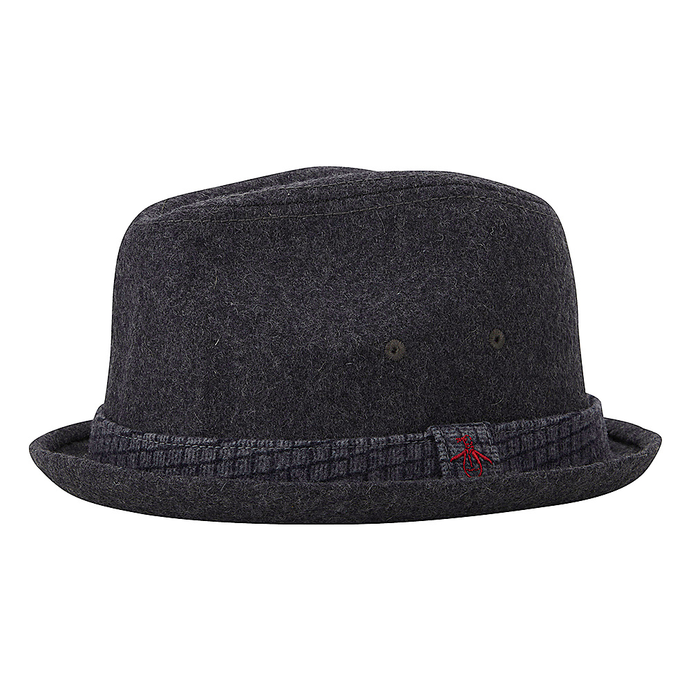 Original Penguin Governor Porkpie Hat Charcoal Heather Large Extra Large Original Penguin Hats Gloves Scarves