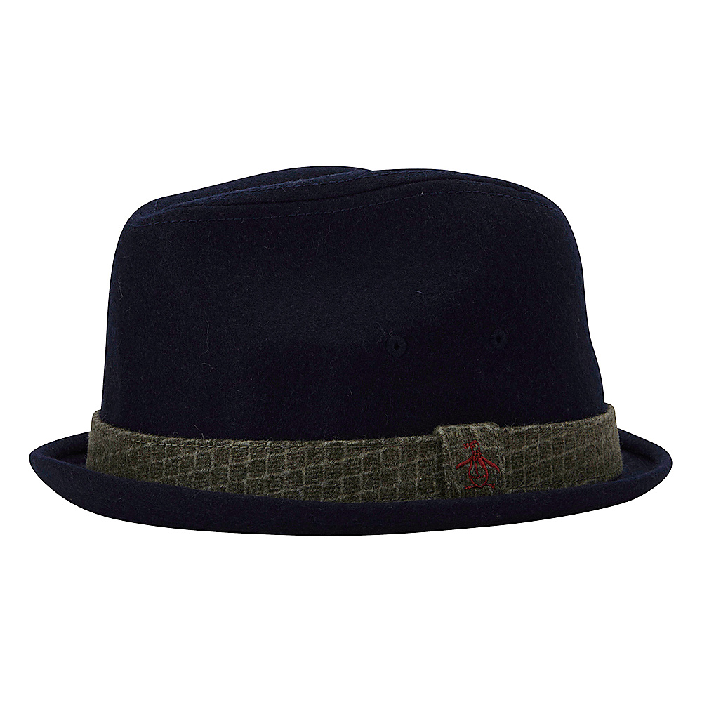 Original Penguin Governor Porkpie Hat Navy Large Extra Large Original Penguin Hats Gloves Scarves