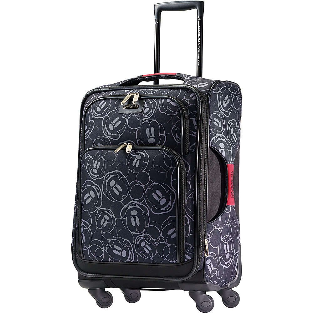 "American Tourister Disney Mickey Mouse Softside Spinner 21"" Mickey Mouse Multi-Face - American Tourister Softside Carry-On"