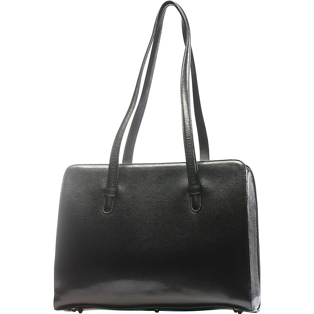 Tanners Avenue Luxe Leather Tote Brief Black Tanners Avenue Women s Business Bags