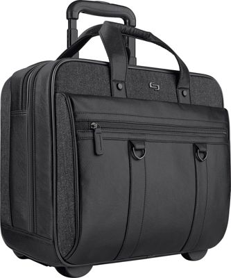SOLO Bradford 17.3 inch Rolling Case Black - SOLO Wheeled Business Cases