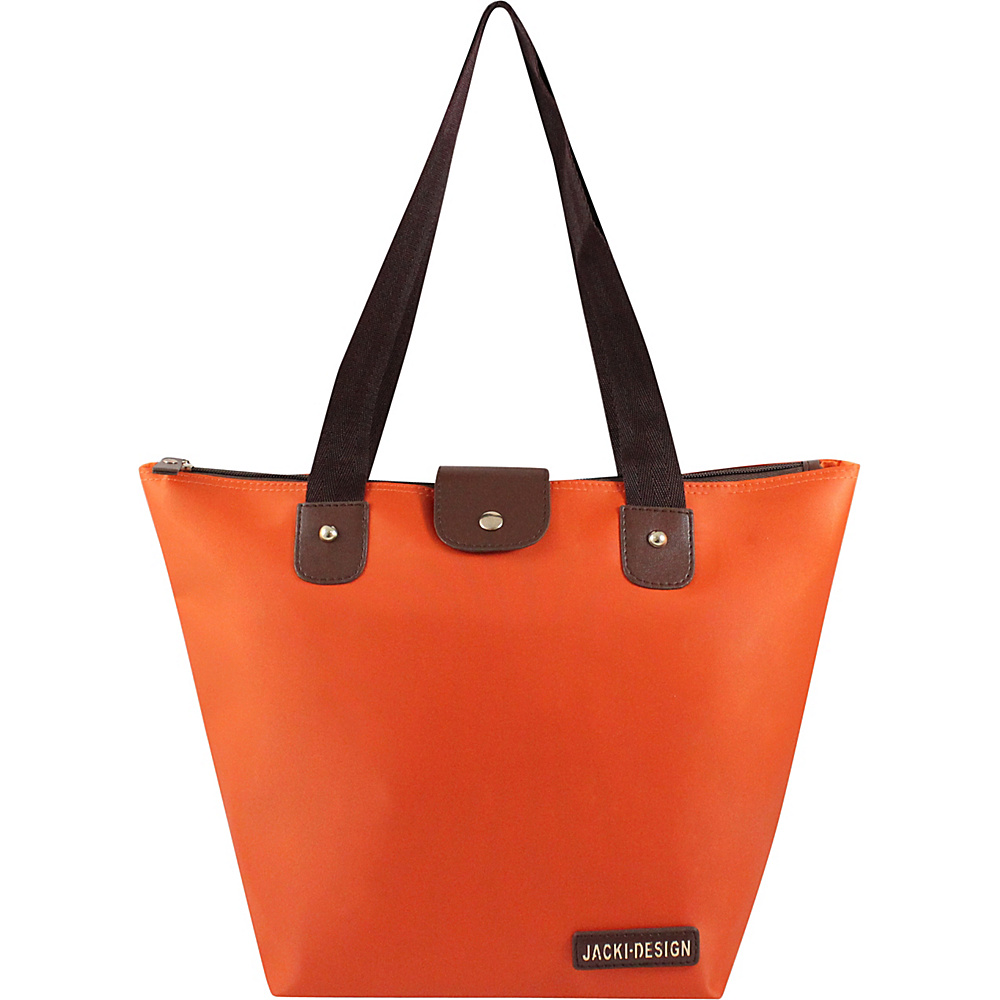 Jacki Design Essential Foldable Tote Bag Small Orange Jacki Design Fabric Handbags