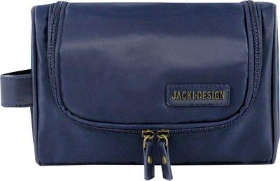 Jacki Design Men's Toiletry Bag with Hanger Blue - Jacki Design Toiletry Kits
