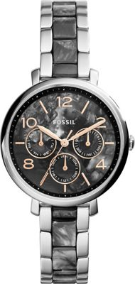 Fossil Jacqueline Multifunction Stainless Steel and Acetate Watch Silver/Grey - Fossil Watches