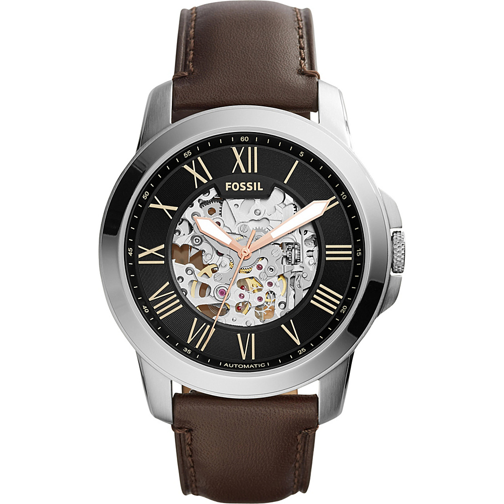 Fossil Townsman Automatic Leather Watch Dark Brown/Black - Fossil Watches - Fashion Accessories, Watches