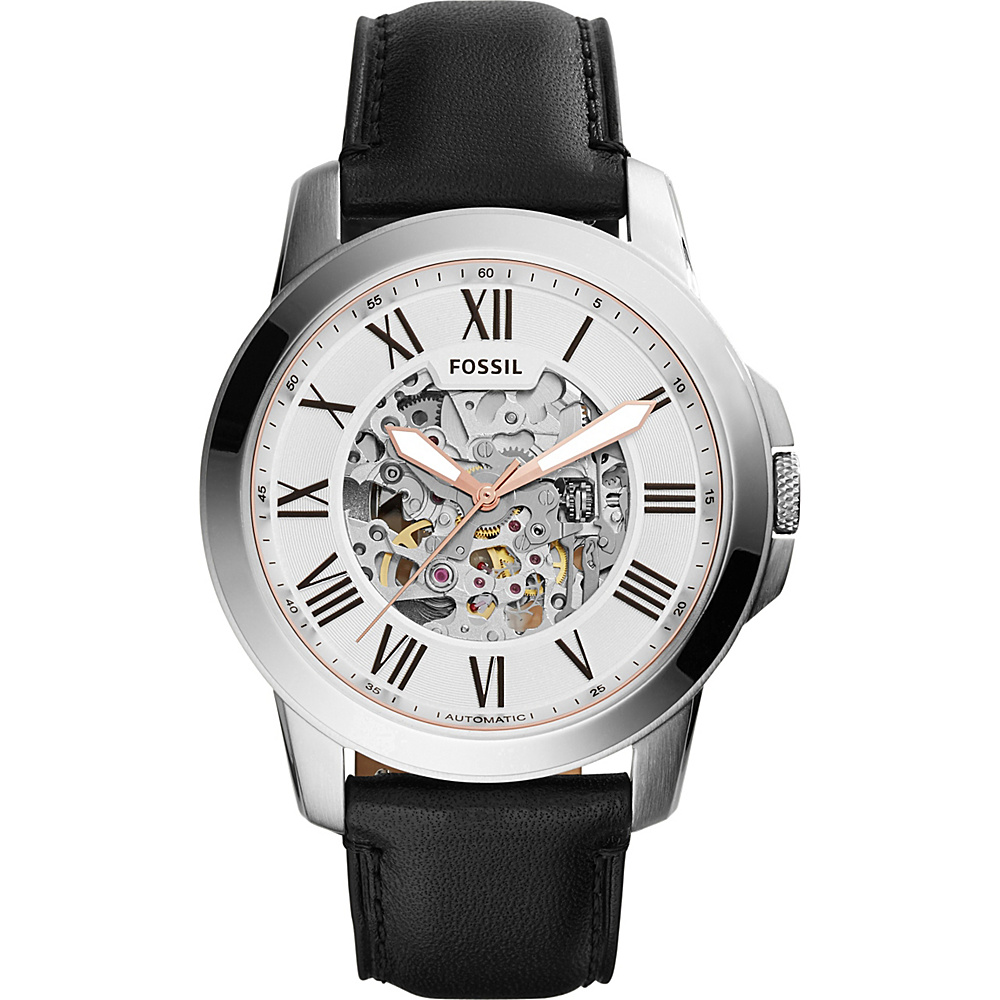 Fossil Townsman Automatic Leather Watch Black - Fossil Watches - Fashion Accessories, Watches