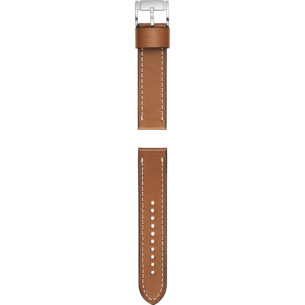 Fossil Leather 22mm Watch Strap Light Brown - Fossil Watches - Fashion Accessories, Watches