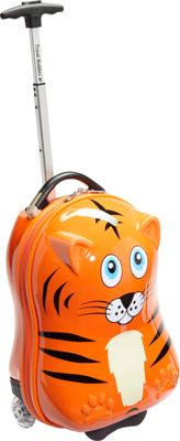 TrendyKid Travel Buddies Tiger 18 inch Carry-On Tiger Orange - TrendyKid Hardside Carry-On