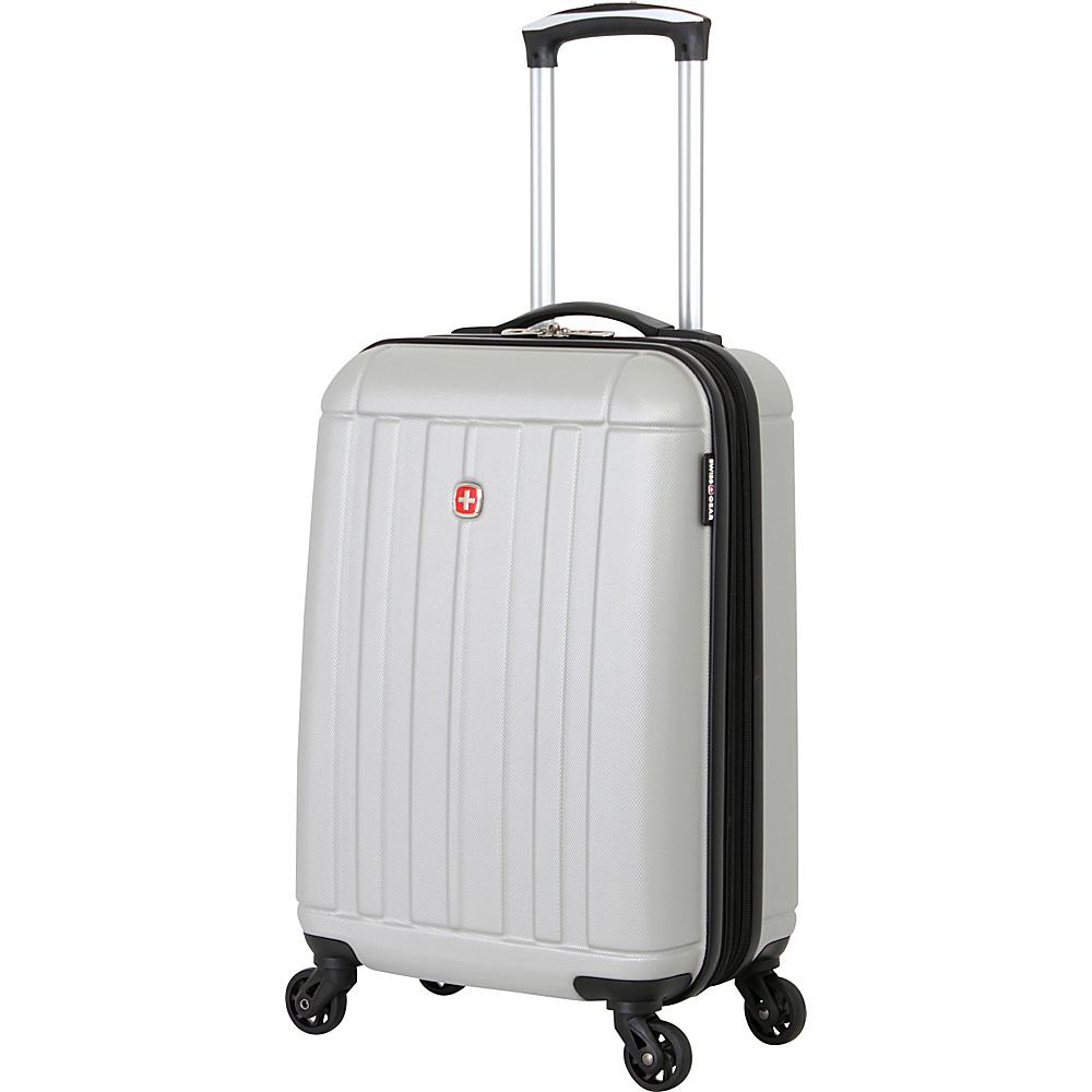 SwissGear Travel Gear 19 Hardside Spinner 4154 Silver SwissGear Travel Gear Hardside Carry On
