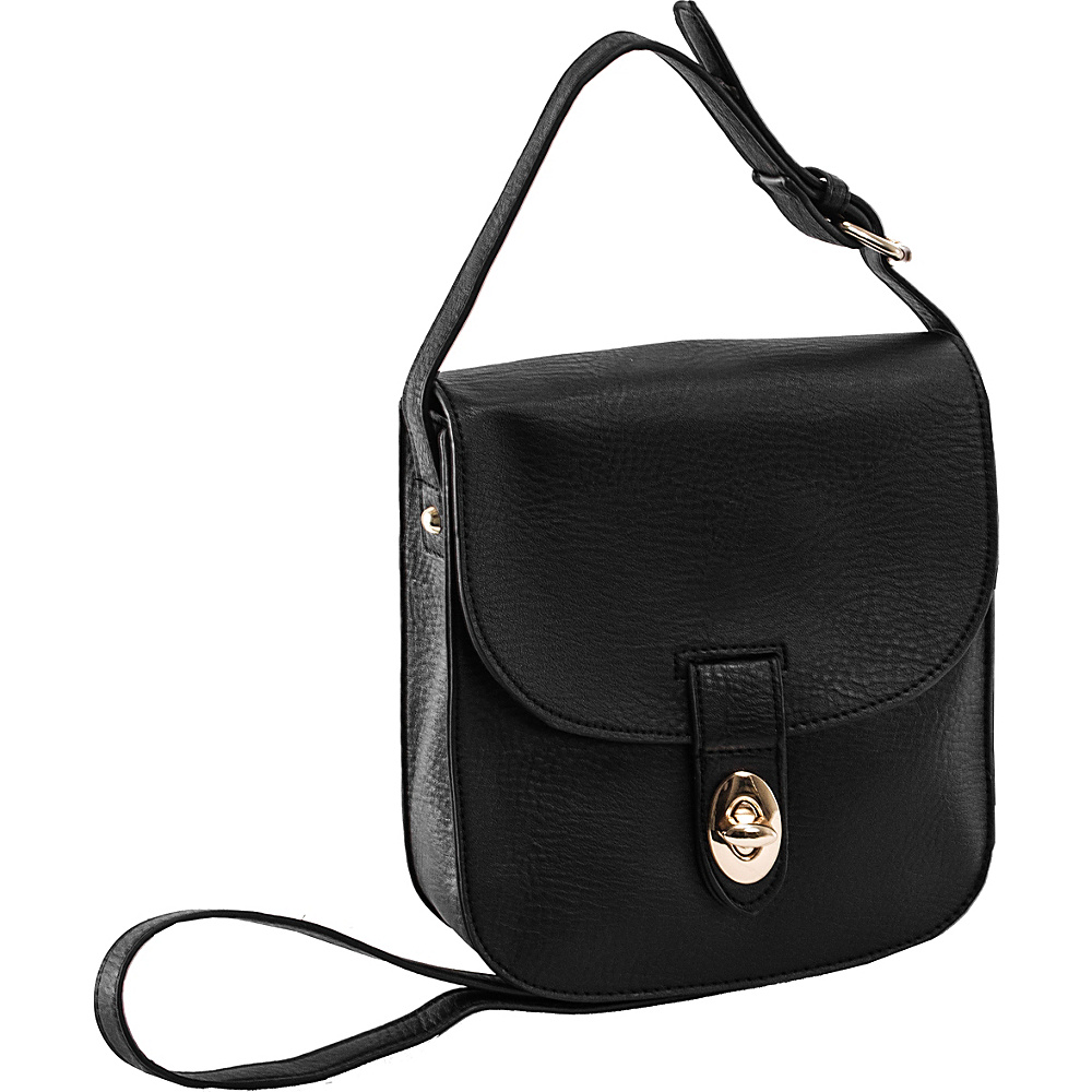 Parinda Maya II Crossbody Pebble Black - Parinda Manmade Handbags