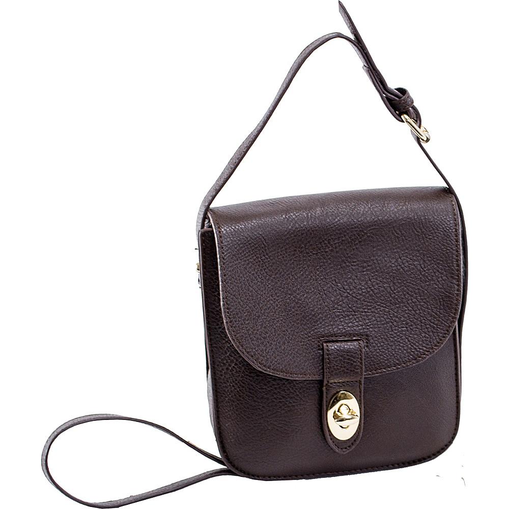 Parinda Maya II Crossbody Brown - Parinda Manmade Handbags