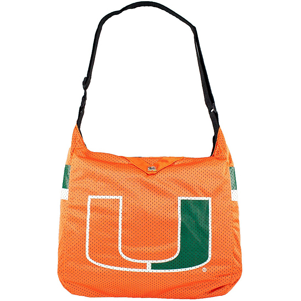 Littlearth Team Jersey Shoulder Bag - ACC Teams University of Miami - Littlearth Fabric Handbags - Handbags, Fabric Handbags