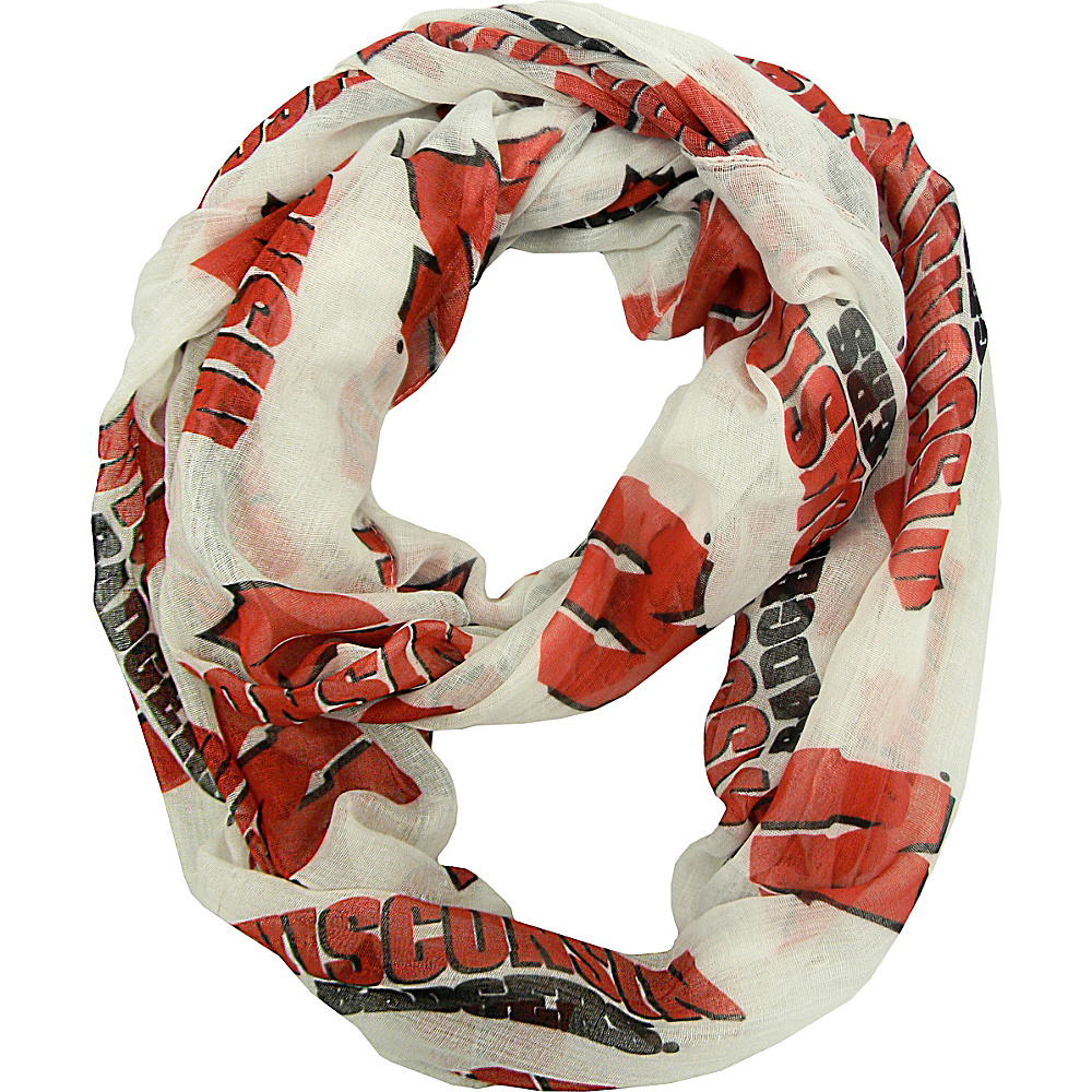 Littlearth Sheer Infinity Scarf Alternate - Big 10 Teams Wisconsin, U of - Littlearth Hats/Gloves/Scarves - Fashion Accessories, Hats/Gloves/Scarves